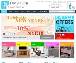 Frances Hunt Discount Code 2018