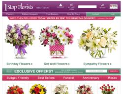 1 Stop Florists Promo Code 2018