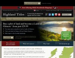 Highland Titles Discount Codes 2018