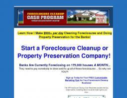 Foreclosure Cleanup Cash Program Promo Codes 2018