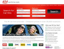 121 Car Hire Voucher Code 2018
