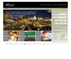 Fairmont Hotels Coupon 2018