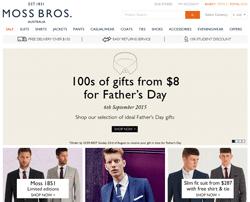 Moss Bros Australia Promo Codes 2018