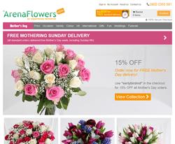Arena Flowers Discount Code 2018