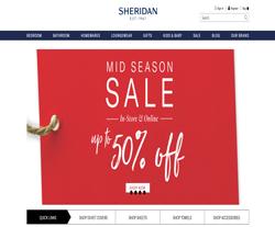 Sheridan UK Discount Code 2018