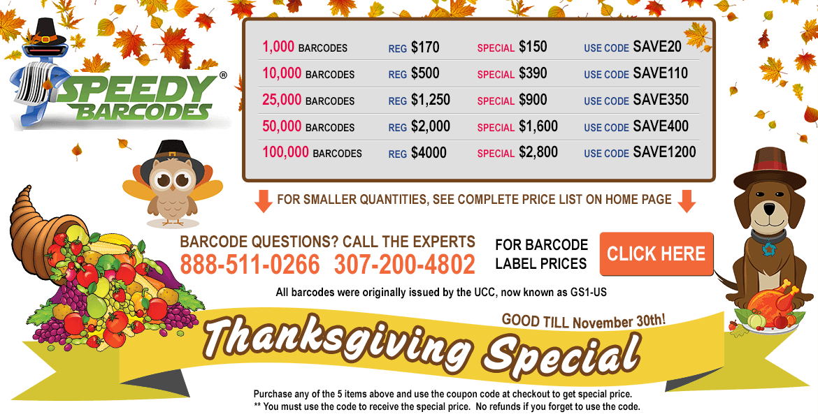 Speedy Barcodes Coupons