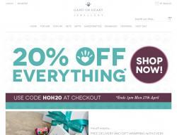 Hand on Heart Jewellery Discount Code & Voucher 2018